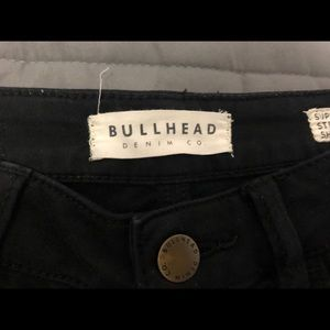 Bullhead Shorts - black soft jean shorts